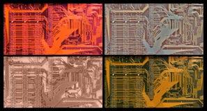 Kleurenvarianten van gedrukte kring Royalty-vrije Stock Foto's