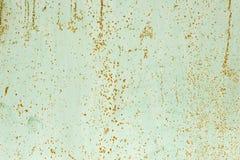 Kleurenverf die en het barsten textuur afschilferen Roestige groene geschilderde textuur Stock Afbeelding