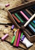 Kleurenverven, kleurpotlood Stock Afbeeldingen