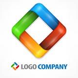Kleurenvierkant op wit Stock Fotografie
