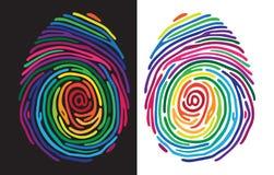 Kleurenvingerafdruk royalty-vrije illustratie