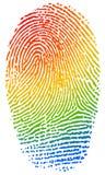 Kleurenvingerafdruk Stock Afbeeldingen