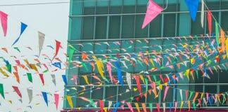 Kleurenvlaggen stock afbeeldingen