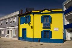 Kleurenvoorgevels Aveiro Portugal Stock Afbeeldingen