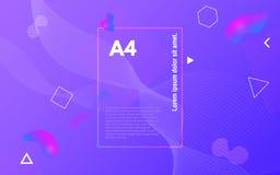 Kleurenvormen Abstracte geometrisch Helder ontwerp met vloeibare elementen In vloeibare achtergrond Bedrijfsdekking stock afbeeldingen