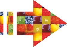 Kleurenvruchten en groenten Vers voedsel Concept collage Royalty-vrije Stock Afbeelding