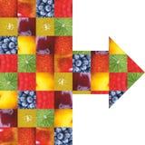 Kleurenvruchten en groenten Vers voedsel Concept collage Stock Foto