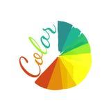 Kleurenwiel, cirkelkleurenpalet met trillend, Royalty-vrije Stock Foto's