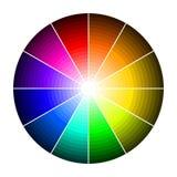 Kleurenwiel met schaduw van kleuren Stock Afbeeldingen
