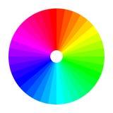 Kleurenwiel met schaduw van kleuren, kleurenspectrum Stock Foto's