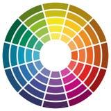 kleurenwiel met twaalf kleuren royalty-vrije illustratie