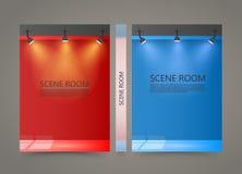 Kleurenzaal met een lichtbronbanner, Aangestoken Stadiumdekking Stock Afbeeldingen