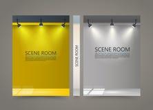 Kleurenzaal met een lichtbronbanner, Aangestoken Stadiumdekking Stock Foto