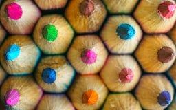Kleuringspotloden Stock Afbeeldingen