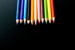 kleurpotloden Royalty-vrije Stock Foto's