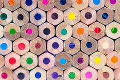 Kleurpotloden Achtergrondsamenvatting Royalty-vrije Stock Afbeeldingen