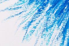 kleurpotloden blauw kader Royalty-vrije Stock Afbeeldingen