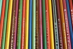 Kleurpotloden, in de USSR worden gemaakt die stock illustratie