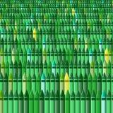 Kleurpotloden - groen gras Stock Foto