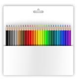 Kleurpotloden in houder royalty-vrije illustratie