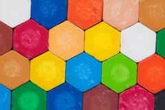 Kleurpotloden op witte achtergrond Royalty-vrije Stock Foto's