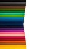 kleurpotloden op witte achtergrond Royalty-vrije Stock Afbeeldingen