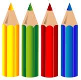 Kleurpotloden, vector vector illustratie
