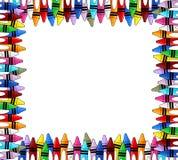 Kleurpotlodenkader Royalty-vrije Stock Afbeelding