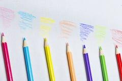 Kleurpotlodenschets royalty-vrije stock afbeeldingen