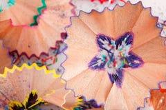 Kleurpotlodenspaanders Royalty-vrije Stock Foto