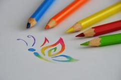 kleurpotlood Royalty-vrije Stock Afbeeldingen