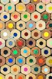 Kleurpotlood achterdetail royalty-vrije stock afbeeldingen