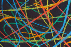 Kleurpotlood getrokken regenboogspectrum Royalty-vrije Stock Foto's