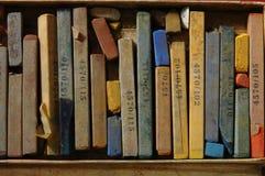 Kleurpotlood, Pastelkleur Royalty-vrije Stock Foto's