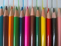 Kleurpotloodpatroon stock foto