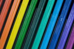 Kleurpotloodregenboog Royalty-vrije Stock Afbeeldingen