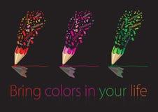 Kleurpotloodtekening Royalty-vrije Stock Foto's