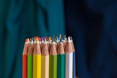 Kleurpotlooduiteinden Stock Foto