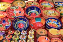 Kleurrijk aardewerk Stock Foto