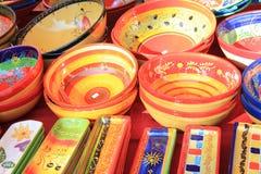 Kleurrijk aardewerk Stock Foto's