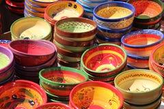 Kleurrijk Aardewerk Provencal Stock Foto's