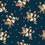 Kleurrijk abstract achtergrondbloemblaadjes retro patroon Royalty-vrije Stock Foto's