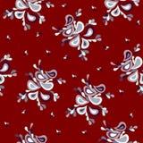 Kleurrijk abstract achtergrondbloemblaadjes rood retro patroon Royalty-vrije Stock Foto