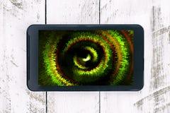 Kleurrijk abstract beeld op het smartphonescherm Royalty-vrije Stock Afbeeldingen
