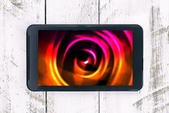Kleurrijk abstract beeld op het smartphonescherm Stock Foto