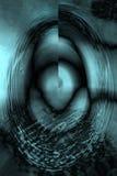 Kleurrijk, abstract, ei gevormde micrograaf van mosbladeren Stock Foto's