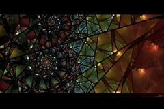 Kleurrijk Abstract Gebrandschilderd glas Als achtergrond Royalty-vrije Stock Afbeelding