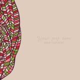 Kleurrijk abstract hand-drawn patroon, golvenachtergrond royalty-vrije illustratie