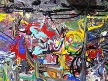 Kleurrijk abstract het schilderen canvas voor huisontwerp Stock Foto's
