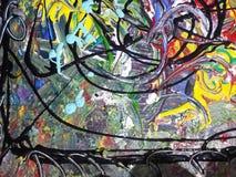 Kleurrijk abstract het schilderen canvas voor huisontwerp Stock Fotografie